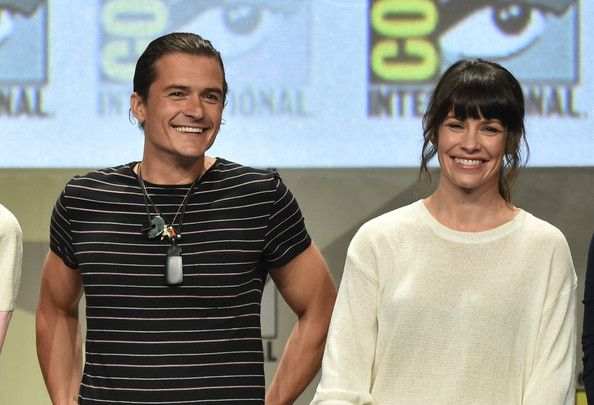 I would totally ship them. Orlando Bloom and Evangeline Lilly. Orlangeline? Evando? Lol.