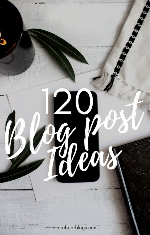 Here are 120 blog post ideas for all bloggers! Whether your niche is food, travel, beauty or fashion, I have created a huge list for you!