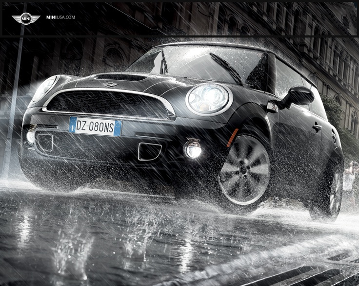 Mini Cooper S. My next car, most likely green or bluish green, with black leather interior, and red stitching.