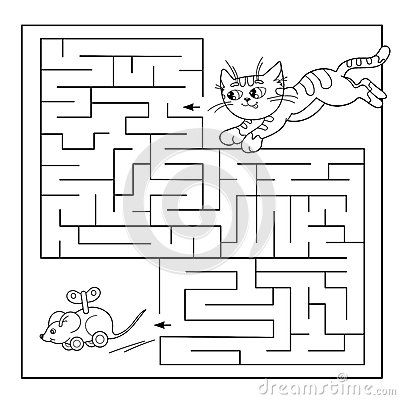 https://thumbs.dreamstime.com/b/education-maze-labyrinth-game-preschool-children-puzzle-coloring-page-outline-cat-toy-mouse-cartoon-vector-73927483.jpg