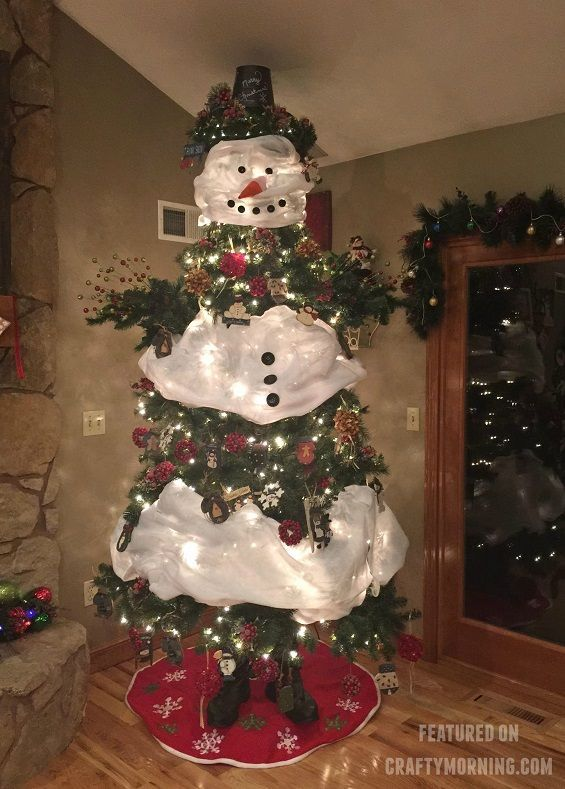 Beautiful snowman Christmas tree decoration made by
