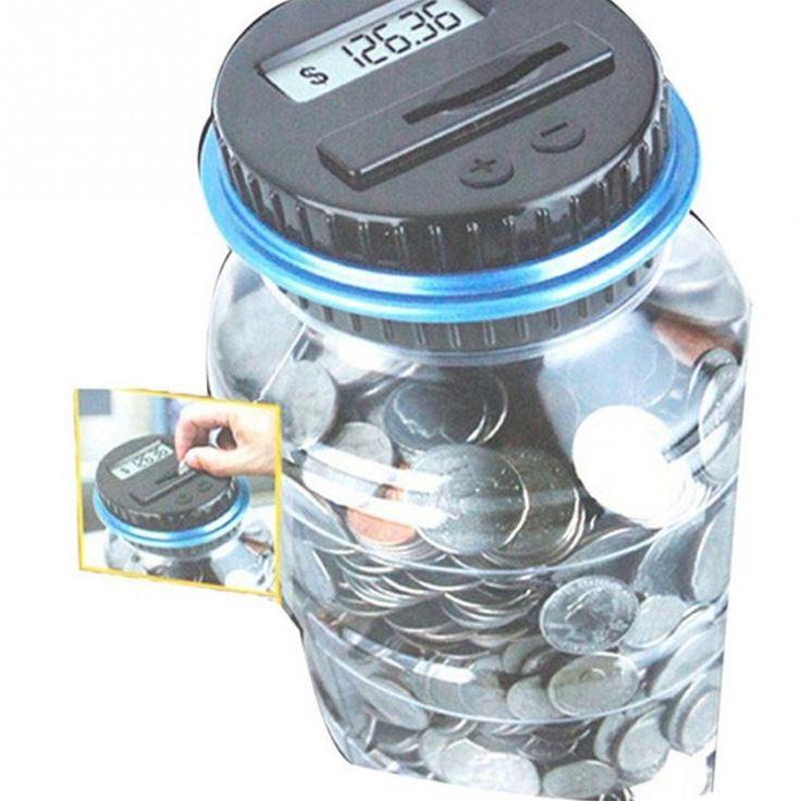 Деньги Доллар Сохранение Монета Счетчик Копилку Jar Подарок Хранения 800-1000 монет Денежный Ящик Электронный USD Цифровые Деньги коробка