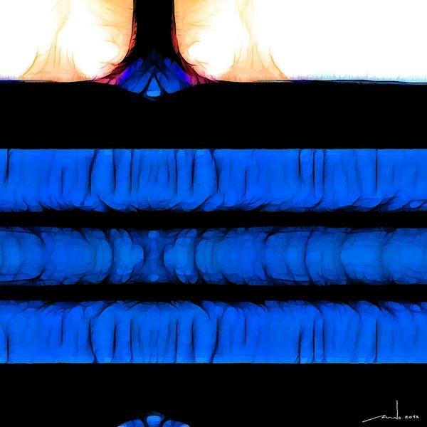 Black And Blue   Digital Artwork over original photo 50 x 50 cm  rcn
