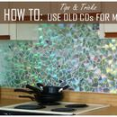 How to Use Old CDs for Mosaic Craft Projects - DIY Kitchen Backsplash Tips and Tricks - This looks awesome. Not exactly my style... but maybe it should be.