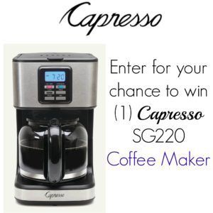 Capresso Coffee Maker Giveaway