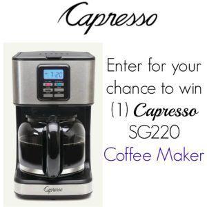 Capresso Coffee Maker Giveaway