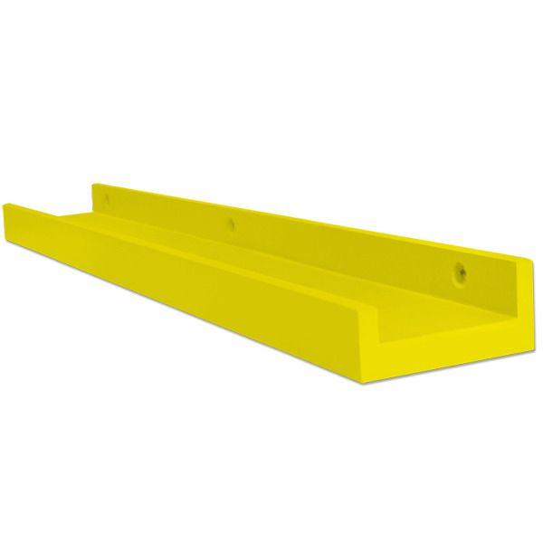 Prateleira canaleta na cor amarelo vivo. 90x9x4cm.   Leroy Merlin  Preço: R$ 52,90