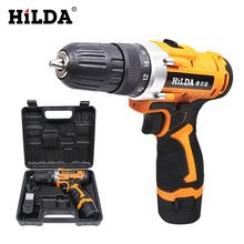 12V Cordless Screwdriver Electric Drill Two-Speed Rechargeable Lithium Battery Waterproof Hand LED Light