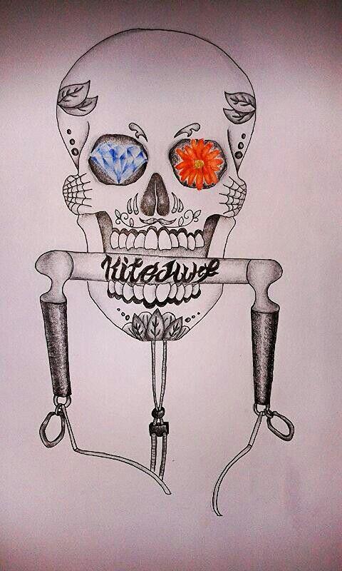 Teschio Calavera, disegno per tatuaggio