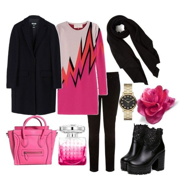 """""""#mydailyfashion#sultankurtay"""" by sultankurtay on Polyvore featuring Karen Millen, Emilio Pucci, Cash Ca, MSGM, Jimmy Choo and Marc by Marc Jacobs"""