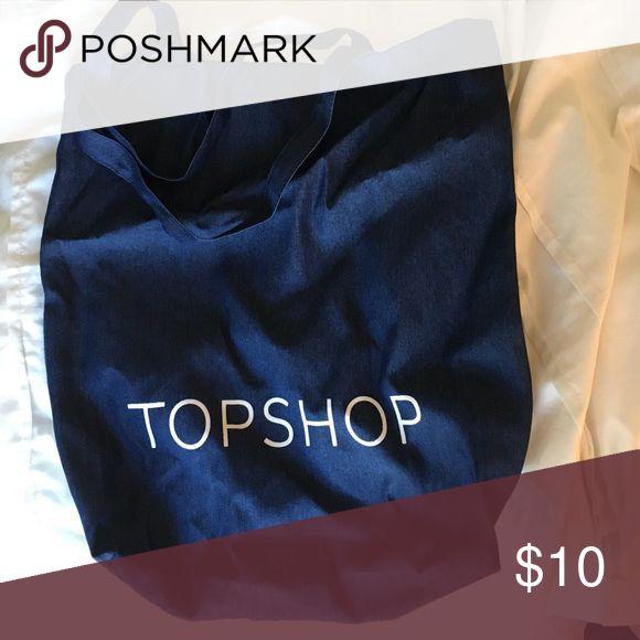 Denim Topshop Tote Denim Topshop tote, large. Not sure of original price. Topshop Bags Totes