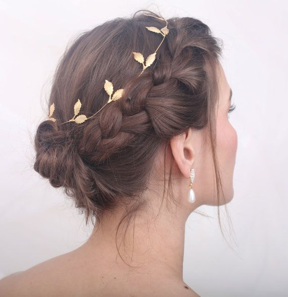 Golden or silver leaf wedding headpiece, silver or gold leaf bridal headpiece, silver leaf wedding tiara, silver leaf bridal tiara