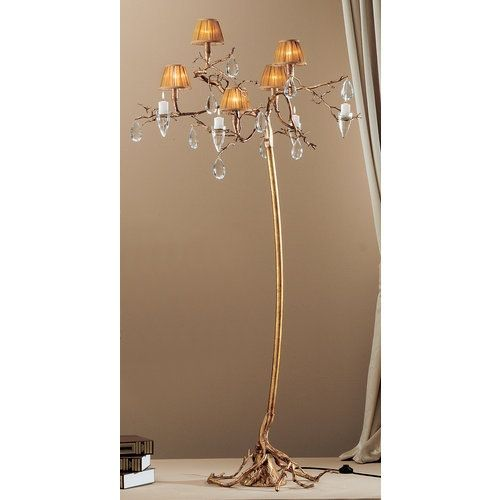 Classic Lighting 10025 Morning Dew 5 Light Tree Floor Lamp with Crystal Accents, Natural Bronze