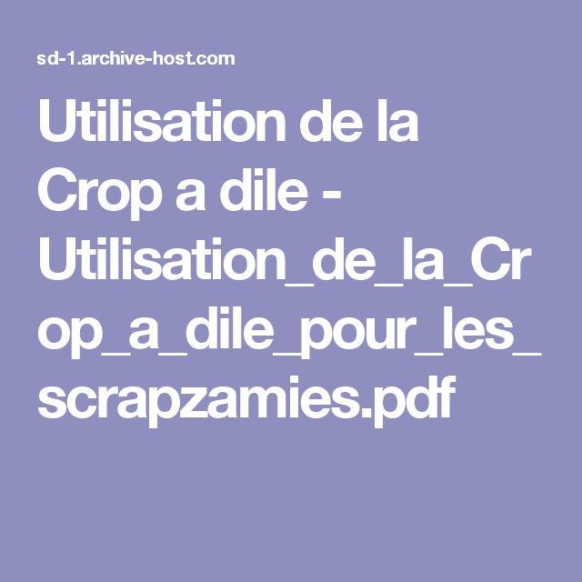 Utilisation de la Crop a dile - Utilisation_de_la_Crop_a_dile_pour_les_scrapzamies.pdf
