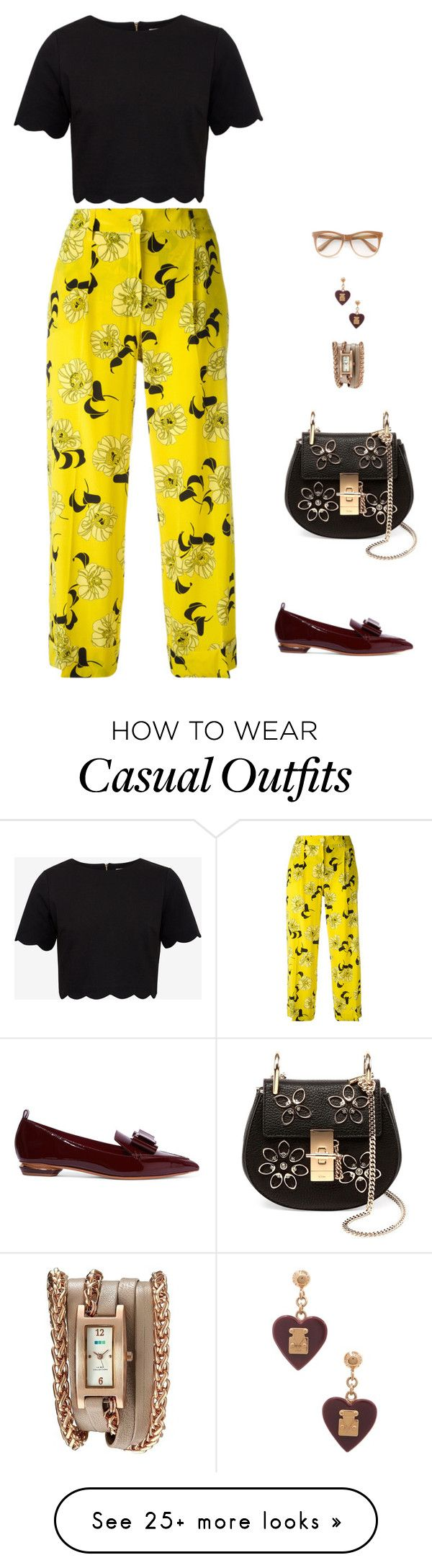 """""""casual elegance"""" by candynena228 on Polyvore featuring Nicholas Kirkwood, P.A.R.O.S.H., Ted Baker, Chloé, La Mer, Louis Vuitton and Wildfox"""