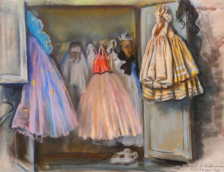 Zinaida Serebriakova  (1884-1967)   ''Уборная балерины Ирины Барановой''  (Closet of ballerina Irina Baranova) 1933