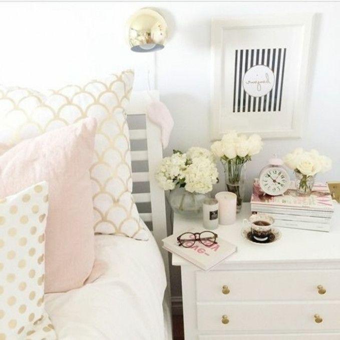 Das Wunder Der Goldenen Deko Schlafzimmer Gold Bedroom Pink