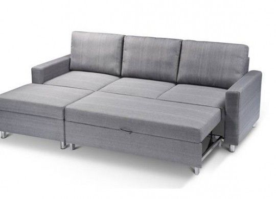 This Condo Size Fabric Sectional L Shape Sofa Bed With Storage 999 Sectionals