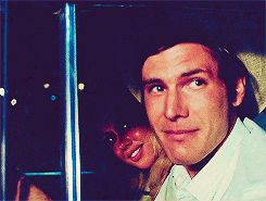 "harrisonfordi: ""Harrison Ford ☆ A filmography in gifsets and trivia. ↳ [1/?] American Graffiti (1973, Dir. George Lucas), as Bob Falfa. • American Graffiti marked the first of Harrison Ford's many..."