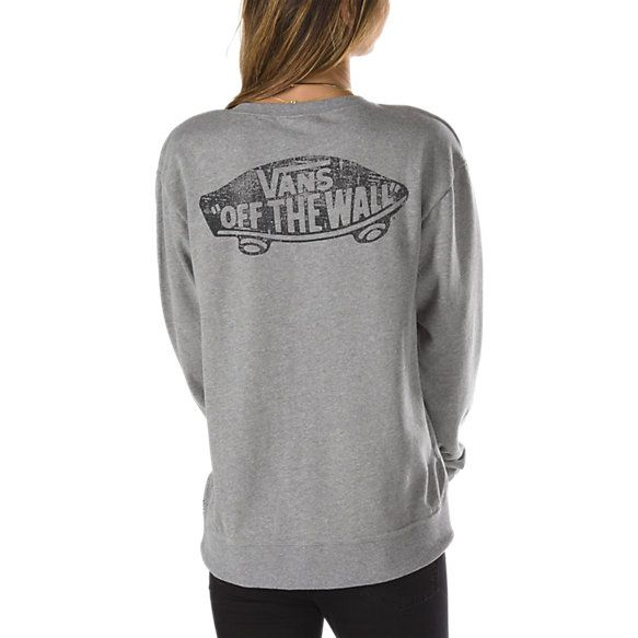 Authentic Skateboard Logo Crew Sweatshirt | Shop Womens Sweatshirts at Vans