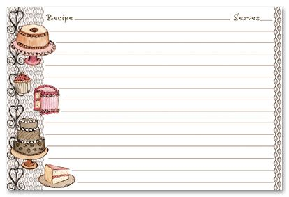 Recipe Stationery | Desert Recipe Cards Stationery, 13976