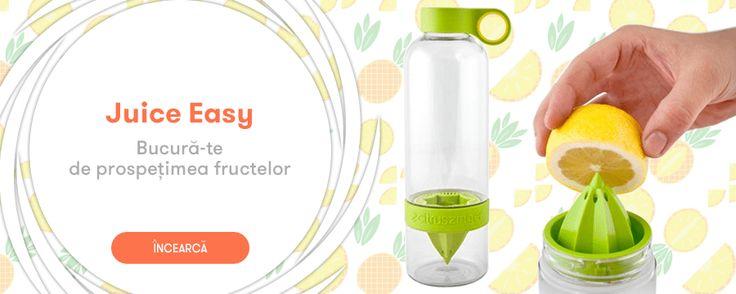 Bucura-te de prospetimea fructelor cu recipientul - #JuiceEasy - http://goo.gl/414QHL