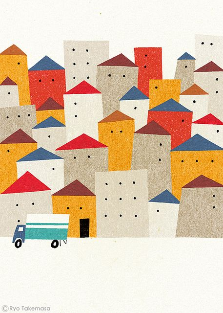 week 3.3 gave me idea of scanning in construction paper for each shape. Moving by Ryo Takemasa, via Flickr