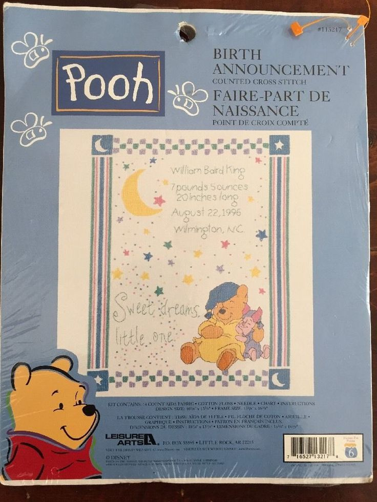 76 best Baby decorating images – Winnie the Pooh Birth Announcements