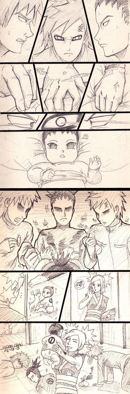 How to Change a Diaper: Starring; Gaara, Shikimaru, and Konkuro!