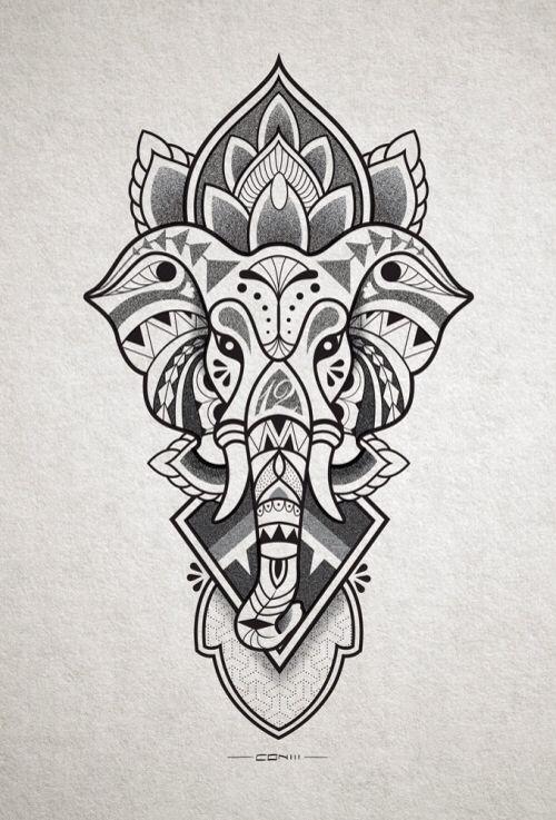 Elephant Line Drawing Tattoo : Best elefantes tattoo images on pinterest elephant