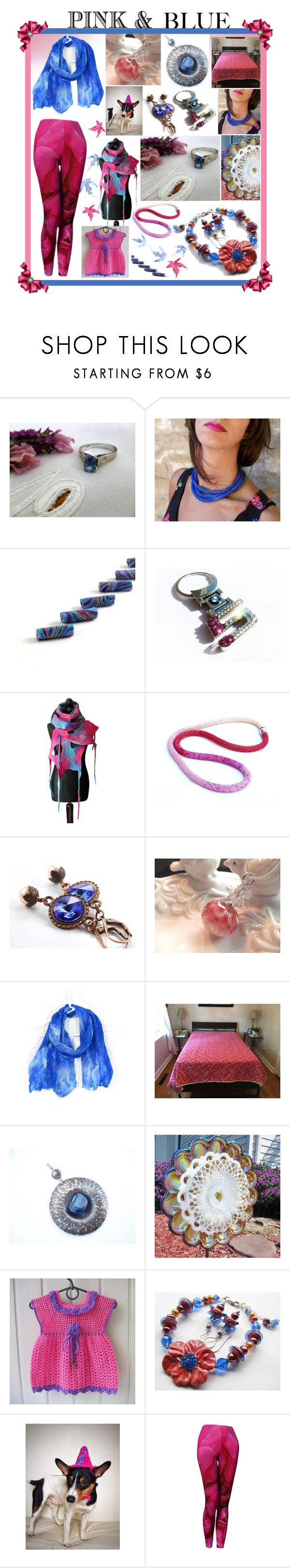Pink & Blue Etsy by belladonnasjoy on Polyvore featuring BMW, ANNA and modern