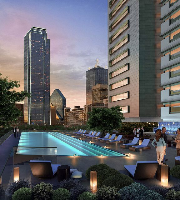 Omni Dallas Convention Center Hotel Pool Deck