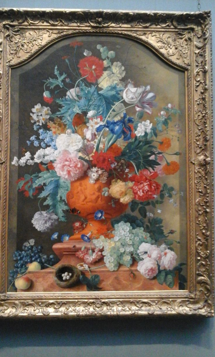 England, National gallery 14-2.16 .  Flowers in a Terracotta Vase , painting of Jan van Huysum (1682-1749) . This wonderful painting captured my attention for the abundance of colors and for the beauty of the flowers . Definitively one of my favourites !