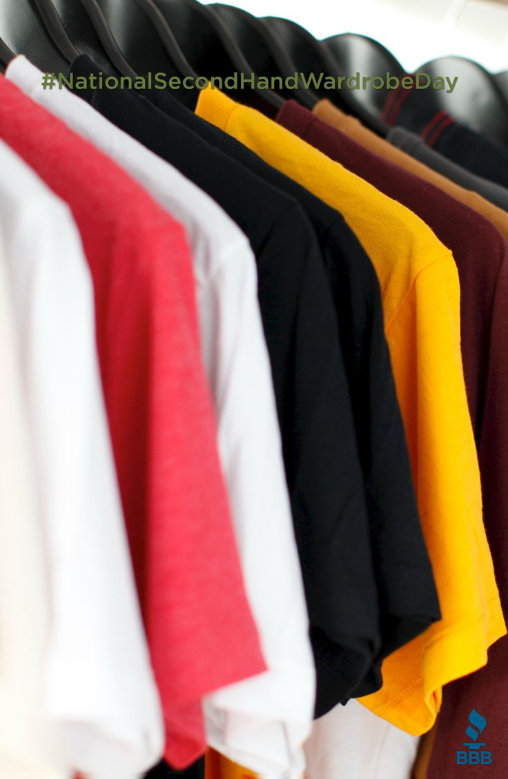 Today is National Second Hand Wardrobe Day! Buying clothes second hand is a great way to save money, find unique items and save the environment! Click for some useful tips on bargain shopping.   #BBB #TulsaBBB #BBBTips #SecondHand #NationalSecondHandWardrobeDay