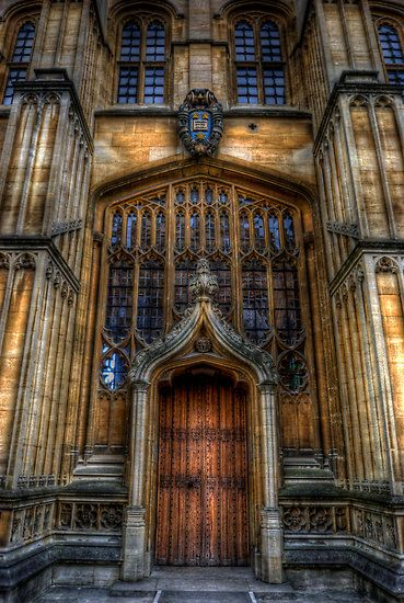Bodleian Library Door - Oxford  It just makes you feel like there is knowledge behind it...