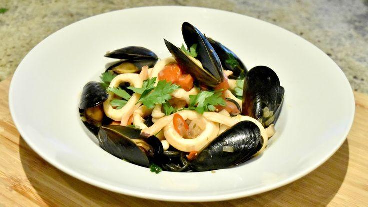 Seafood Squid Ink Pasta