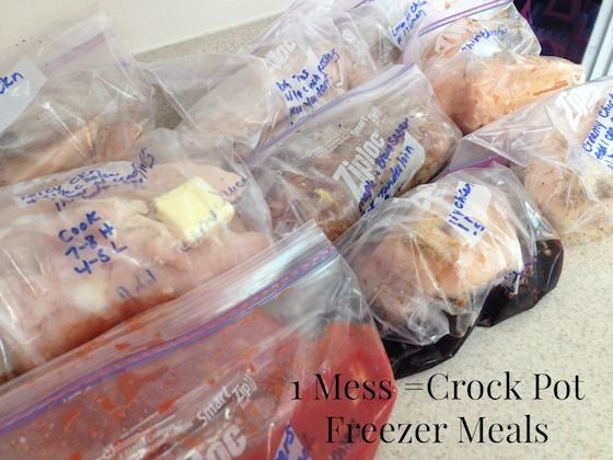 *New* 40 different Slow Cooker Freezer Meals with Printables! Crock pot meals, dinner, Once a month cooking.