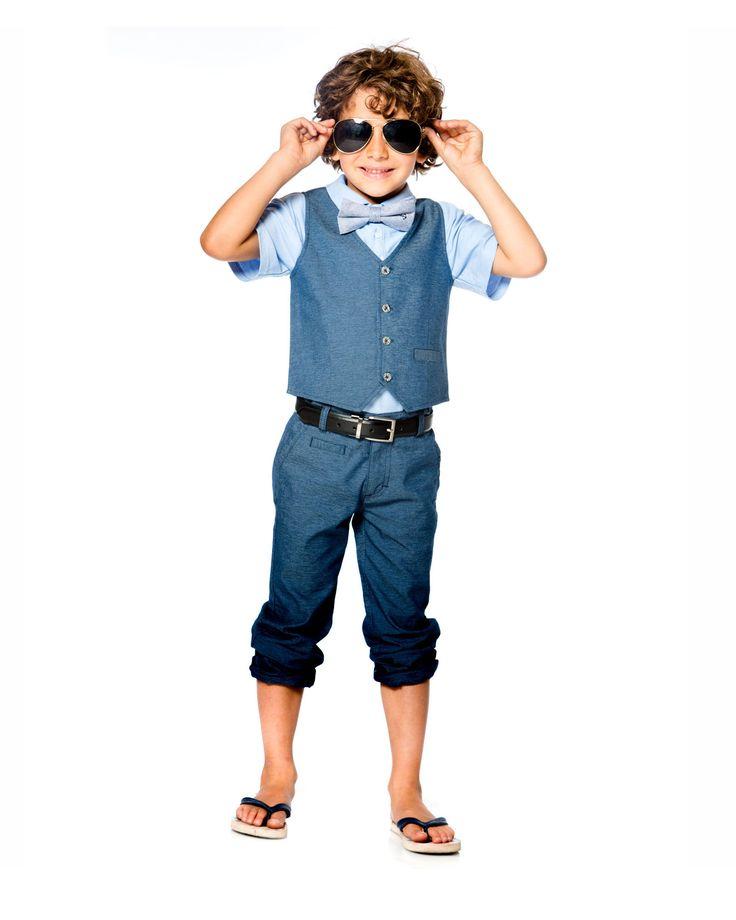 Boys Summer Suit   Boys Blue Suit   Deux par Deux Boys Clothing   Boys Special Occasion Outfits