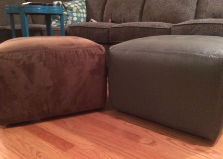 painted one of my microfiber ottomans and now it looks and
