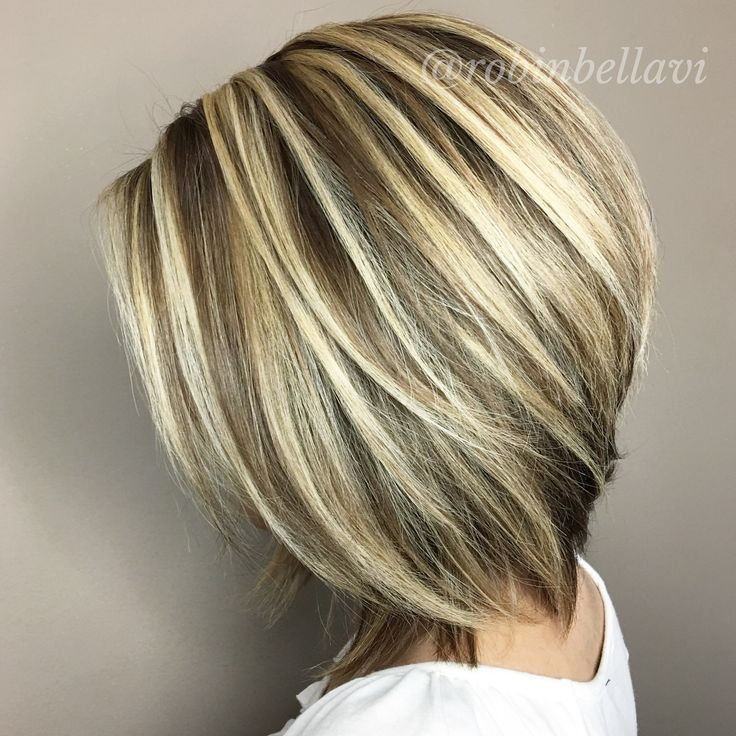 Dimensional Hair color - flattering short haircut.