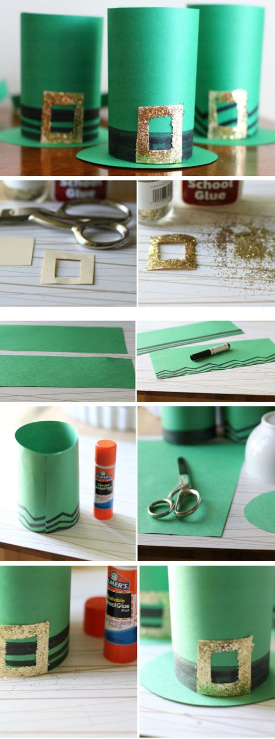 Paper Leprechaun Hats | DIY St Patricks Day Crafts for Kids to Make | DIY St Patricks Day Crafts for Toddlers to Make