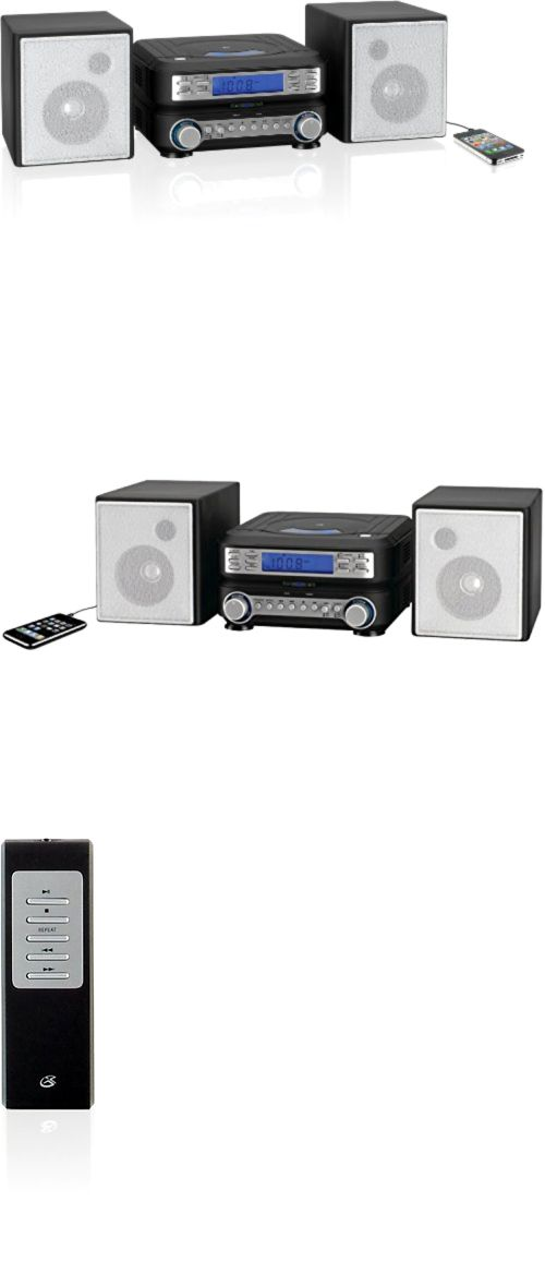 Compact and Shelf Stereos: Home Stereo Gpx Compact Cd Player Music System, Am/ Fm Tuner Mp3 Player Speakers BUY IT NOW ONLY: $44.16