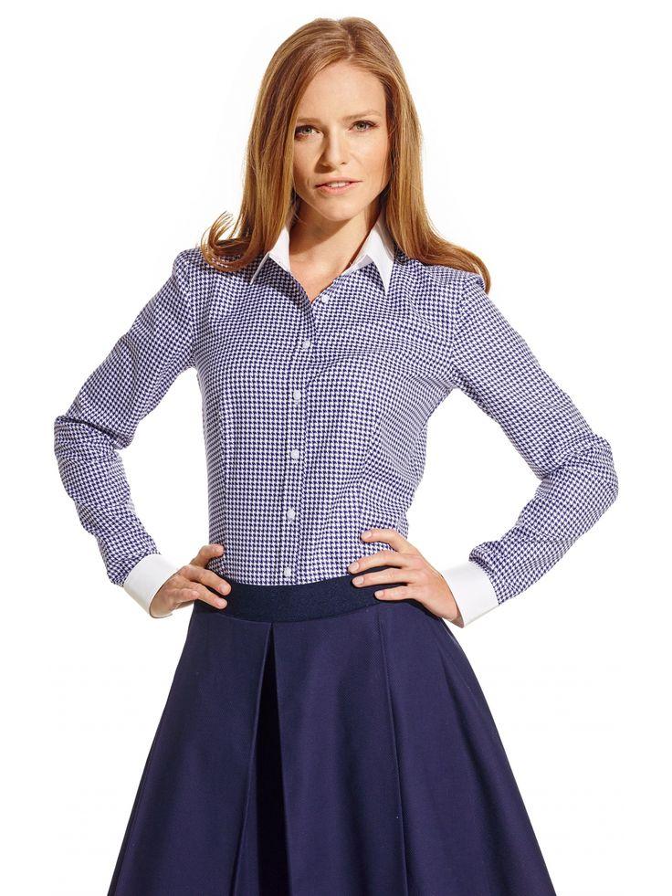Granatowa koszula damska Lambert 249.90 - wolczanka.pl - Wolczanka.pl sklep internetowy