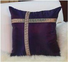 Estilo europeu almofadas roxas cobrir fronha retro decorativo travesseiros luxo vermelho almofadas de seda Jogo de Jantar m090308(China (Mainland))