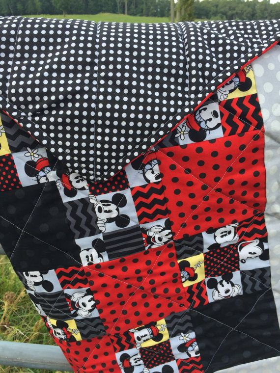 Mickey Mouse Quilt in Multi by NeNesQuilts on Etsy