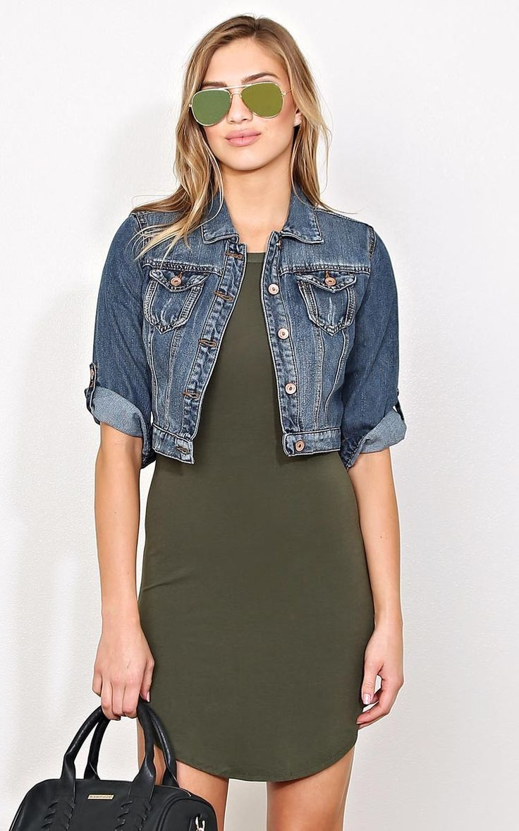 House Party Cropped Denim Jacket