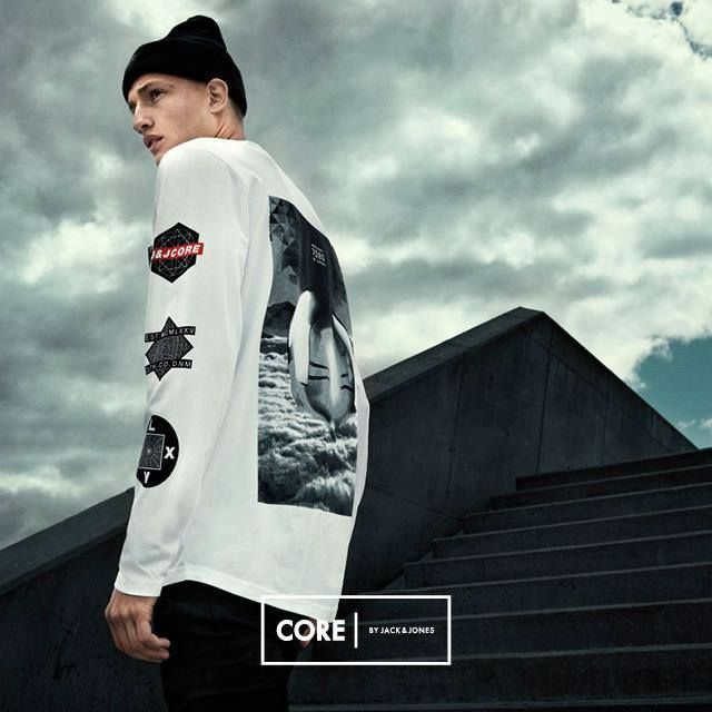 Get sharp. Get graphic.  Sweatshirts and T-shirts from CORE by JACK & JONES