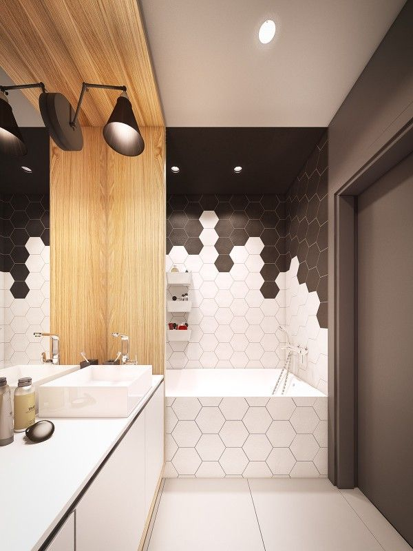 Superior Modern Bathroom   A Seductive Home With Lush Colors And Double Baths. Hexagon  TilesHexagon ...