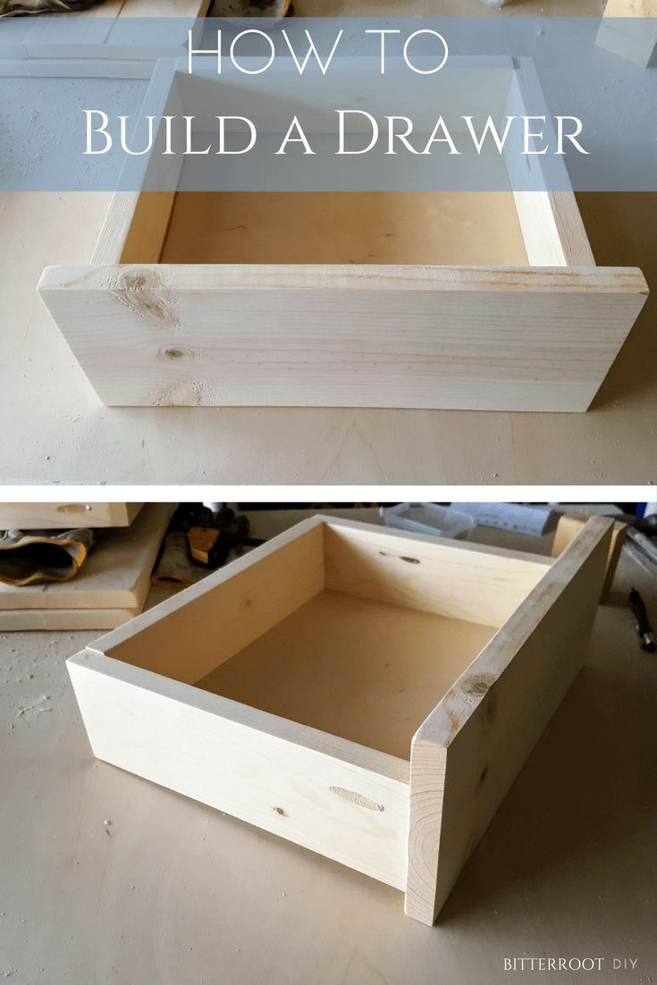 How To Build A Basic Drawer Diy Drawer Simple Drawer Build A Drawer Woodworking Projects Furniture Diy Drawers Beginner Woodworking Projects