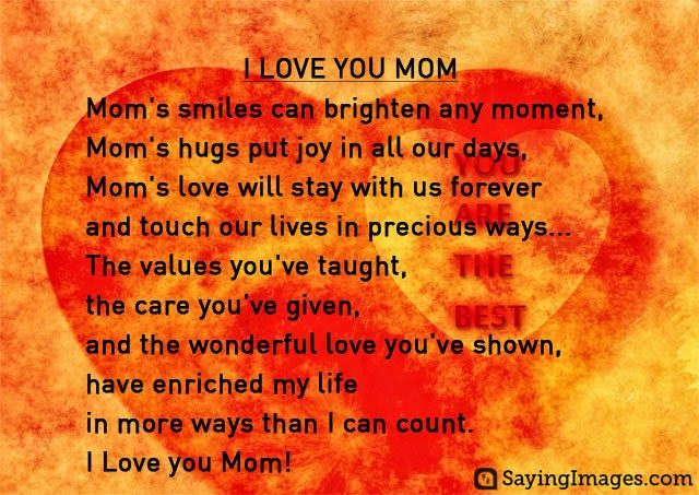 11 Short Happy Mother's Day Poems